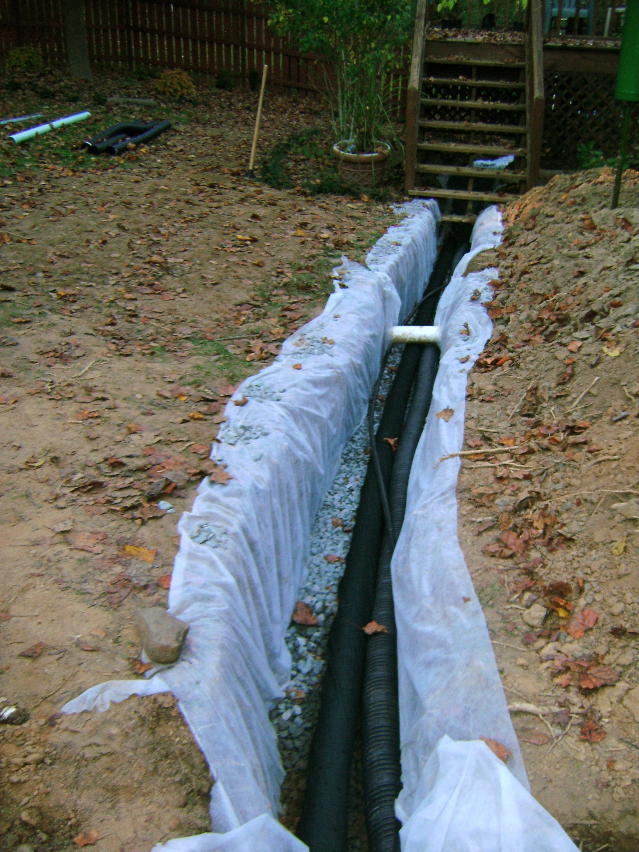 French drain orvis oasis for French trench drain